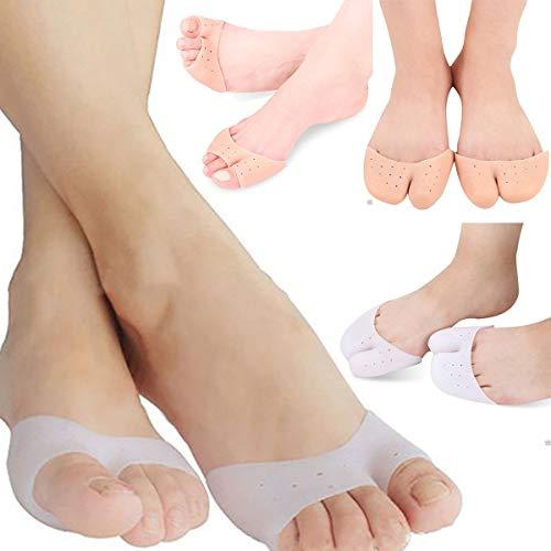 Wallfire 1 Paar Silikon Einlegesohlen Gel Pad Stressabbau Protektoren Fußpflege Corrector Toe Separatoren Cap Cover (Size : 3)