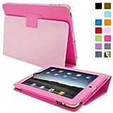 Snugg - Funda con función atril para Apple iPad 1 (soporte de sobremesa), color rosa - Snugg - amazon.es