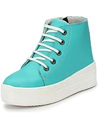 Fucasso Women's Green Smart & Stylish Casual Boot Shoes