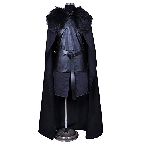 Game Thrones Männliche Of Kostüm - Cosplay Kleidung Game of Thrones Jon Crow Cosplay Kostüm Lycra Siamese Strumpfhosen 3D Digitaldruck Enge Weihnachten Halloween Kostüm Für Erwachsene/Kinder Tragen Adult-XXXL