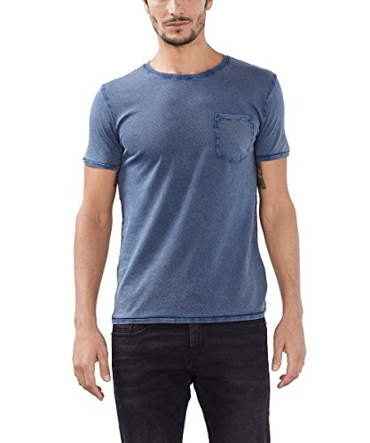 ESPRIT 106EE2K027 - Basic, T-shirt Uomo, Blu (Navy), Medium
