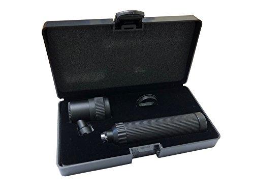 Dermatoscope schwarz mit zwei Untersuchungshandschuhe Leses Haut Dermatologie mit Aufbewahrungsbox schwarz
