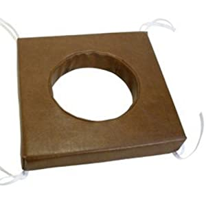 Toilettenstuhlkissen Kunstleder braun 42x42x6cm, Toilettenhilfen
