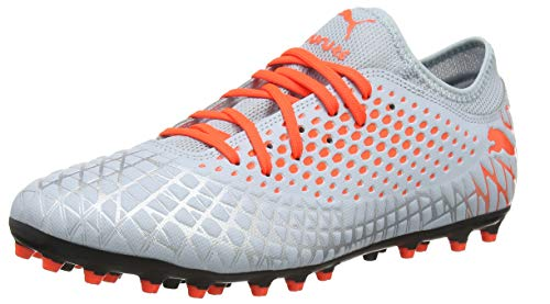 PUMA Future 4.4 MG, Botas de fútbol para Hombre, Glacial Blue-Nrgy Red, 43 EU