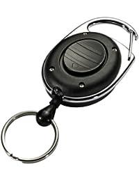 Durable 819801 Style LED Enrouleur Yoyo Longueur 80 cm Attache Ceinture avec Anneau Prisonnier Porte-clés + Eclairage LED Sachet de 1
