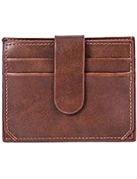 8fa2aa857f2679 Barlingrock Portafoglio sottile portafogli da uomo in pelle per donna, porta  carte di credito,