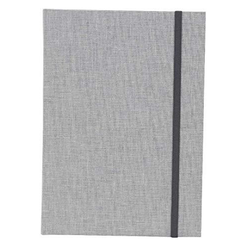 Goldbuch Notizbuch A5, Linum, 200 chamoisfarbene Blankoseiten, Leinen, Grau, 64919
