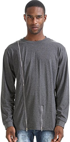 pizoff-unisex-hipster-long-sleeve-asymetric-t-shirts-sweatshirts-with-zip