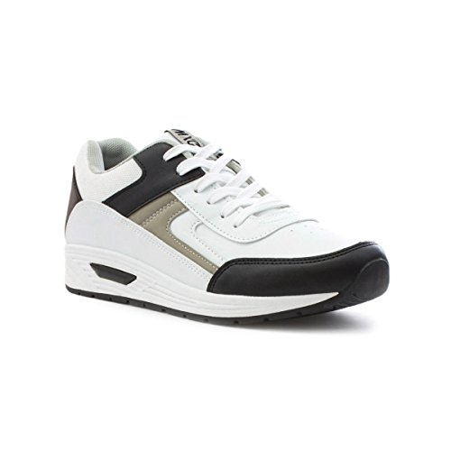 Mercury Mens White and Black Lace Up Trainer - Size 10 - White
