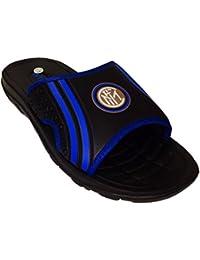 Inter - Zapatillas de estar por casa de Caucho para hombre negro negro, color negro, talla 41