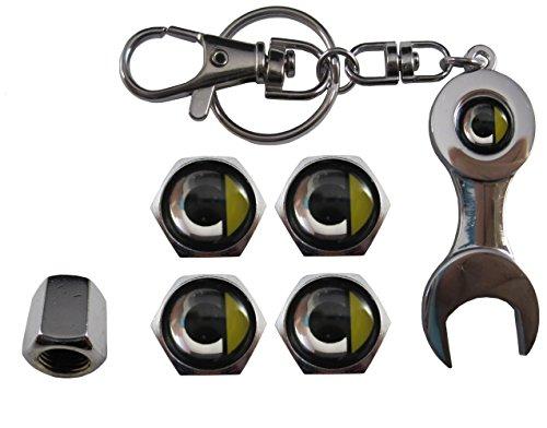 ETMA Valvulas de acero inoxidable para coche + llavero Smart (M2) aut011-31