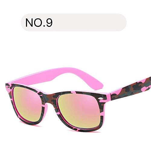 XHCP Frauen polarisierten klassischen Pilotenbrille, Frauen 's Shades Mode polarisierten Frauen Sonnenbrille Retro Classic Eyewear 100% UV-Schutz (Farbe: NO9, Größe: freie Größe)