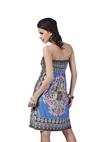 JOTHIN L'Europe Enveloppé la Poitrine Jupe Taille Haute Grands Taille Robe Lait Mode Glace de Soie Imprimé en Soie Robe Bleu
