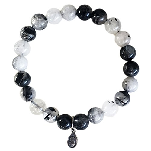 apoccas-semi-precious-crystal-bracelet-agni-tourmaline-quartz-grey-8-mm-diameter-sterling-silver-tag