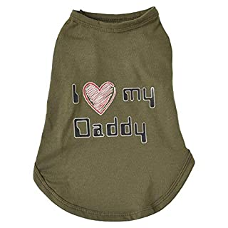 DULEE Puppy Dog Shirt Clothes Pet Costume Apparel,Army Green M