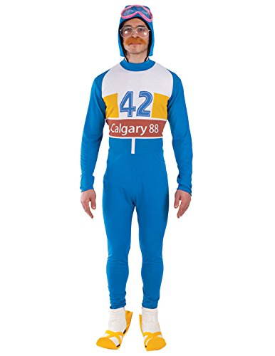 Mens Olympic Skier 80s Fancy Dress Costume - standard or XL