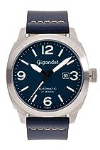 Gigandet RED BARON II Herren Automatik Fliegeruhr - Armbanduhr mit analoger Anzeige - 100m/10atm wasserdicht mit Datumsanzeige, blauem Lederarmband und blauem Zifferblatt - G9-003