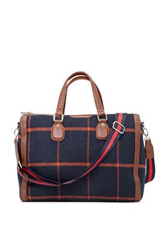 London Rag Damen blau Checks Duffle Bag - Rag Bag