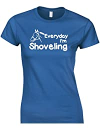 iClobber Everyday i'm shoveling t shirt Women's fitted tshirt Girls horse riding pony
