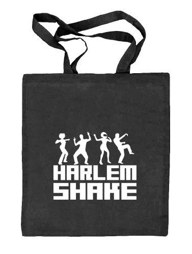 Shirtstreet24, HARLEM SHAKE, Stoffbeutel Jute Tasche (ONE SIZE) schwarz natur