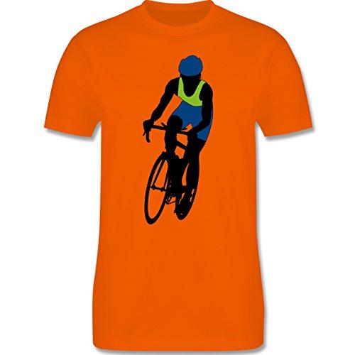 Radsport - Profi Rennrad Radrennen - Herren Premium T-Shirt Orange