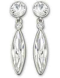 Swarovski Damen-Ohrstecker Ivory Kristall rodiniert 2.5 cm 5020054