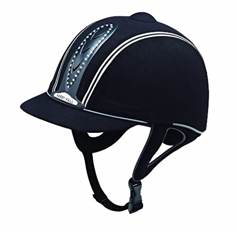 Harry Hall Legend Crystal Plus Riding Hat - Black, 57