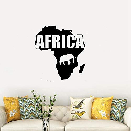 Wandtattoo Kinderzimmer Karte Afrika Karte Tiere Kontinent Geographie