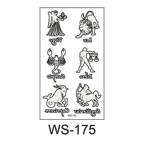 adgkitb 2019 Neue Halloween, Leuchtend, Kinder Tattoo Aufkleber, Umweltschutz, wasserdicht, Schweiß, lustige Cartoon Einwegaufkleber 4 10,5x6cm