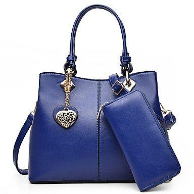 La donna pu formale / Casual / Ufficio & Carriera / Shopping Tote blu / Oro / rosso / nero,Ruby Blue