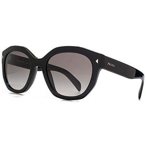 Prada Asymmetrische Sonnenbrille in schwarz PR 12SS 1AB0A7 53 53 Gradient Grey