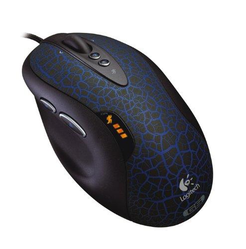 Natürliche Netto (Logitech G5 Refresh Laser Maus schnurgebunden schwarz-blau)