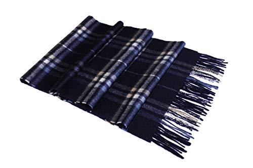 MayTree® 100% Kaschmir Schal Herren und Damen, Herrenschal/Damenschal aus Cashmere, Unisex Wollschal in verschiedenen Farben 180 x 30 cm