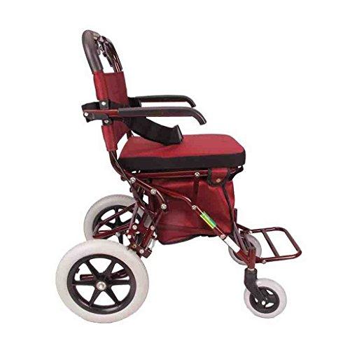 liu Einkaufswagen Einkaufen-Laufkatzen-faltender Einkaufswagen-Alter-Roller-Vier Räder-drückbarer Seniors-Korb-tragbarer mit Sitz-Multifunktions-tragbarem Einkaufswagen