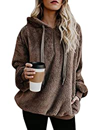 Minetom Damen Kapuzenpullover Herbst Winter Sweatjacke Hoodie Sweatshirt  Oberteil Pullover Mode… b69d7766e7