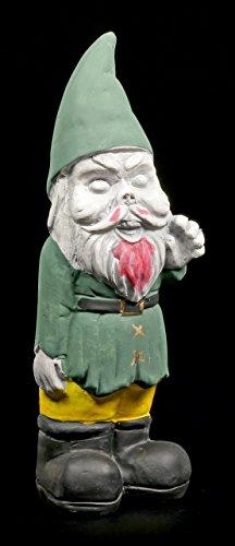 Zombie Gartenzwerg – Gnom grün – Zwerg Garten Figur Horror Deko Gartenfigur - 2