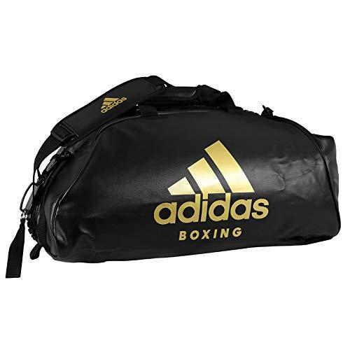 a385664c38 adidas 2in1 Bag PU Boxing L Sac de Sport Mixte, Schwarz/Gold, 723434