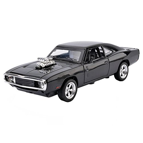 mylifeunit-132-dodge-charger-1970-alloy-die-cast-car-model-collection-light-sound-black