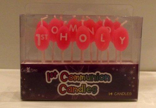 Pink Girl 's First Holy Communion Kuchen Kerzen. 1. Heilige Kommunion Kuchen, Dekoration. First Holy Communion Celebration Kerzen (Kommunion Kuchen 1. Dekorationen)