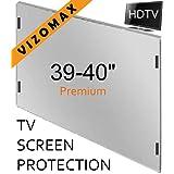 Vizomax 39 - 40 pulgadas - Protección de pantalla para televisor LCD, LED y Plasma HDTV