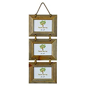 """Nicola Spring Triple Wooden 3 Photo Hanging Picture Frame - 6 x 4"""""""