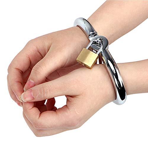 Kinder spielen Spielzeug Metall Handschellen mit Schlüssel für Polizei Rolle Spiel Kostüm Zubehör Halloween Party Requisiten,Voller Leidenschaft, Alternatives Spiel,Women'sBigSize
