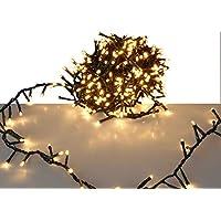 LED Lichterkette mit 700 LED - EXTRA warmweiß - mit Speicherchip und 8 Funktionen - für den Innen- und Außenbereich