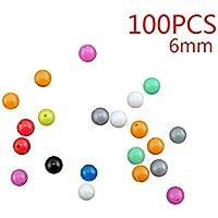 Lorsoul 100pcs por Paquete de los Granos Redondos de plástico en Forma de Pesca