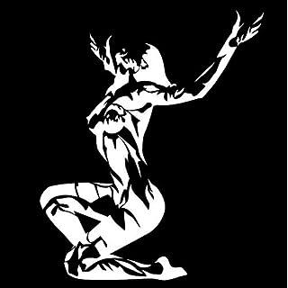 Wandtattoos Wandsticker 14.3Cmx17.2Cm Frau Mädchen Feuer Nude Mode Aufkleber Aufkleber Autozubehör Vinyl Silber 5pcs