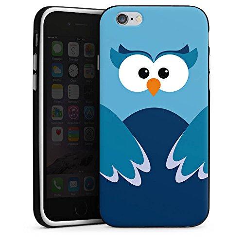 Apple iPhone X Silikon Hülle Case Schutzhülle Eule Owl Blau Silikon Case schwarz / weiß
