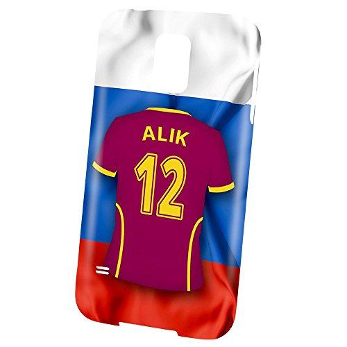 PhotoFancy – Samsung Galaxy S5 Handyhülle Premium – Personalisierte Hülle mit Namen Alik – Case mit Design Fußball-Trikot Russland EM 2016
