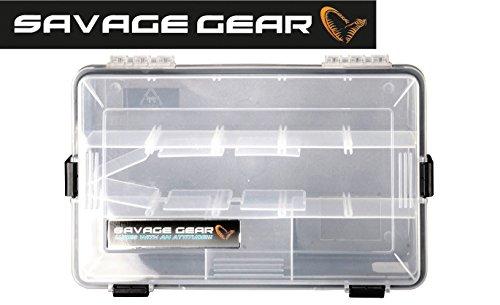 Savage Gear Lure Box 27.5x18x5cm wasserdichte Angelbox, Tacklebox, Köderbox, Anglerbox, Kunstköderbox, Boxen für Gummiköder, Wobbler, Angelköder