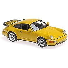 Maxichamps 1:43 1990 Porsche 911 Turbo (964) - Amarillo - 940069104