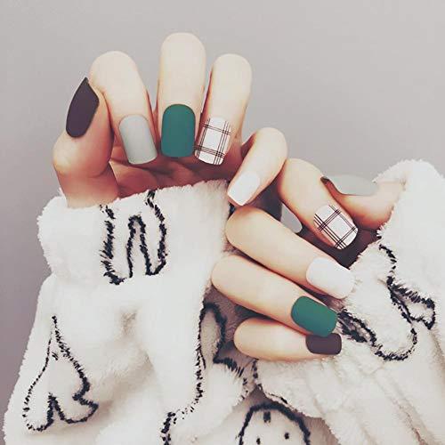 Sue-supply adesivi per unghie finte adesivi per unghie finte decorazioni per le signore ragazze party 24pcs